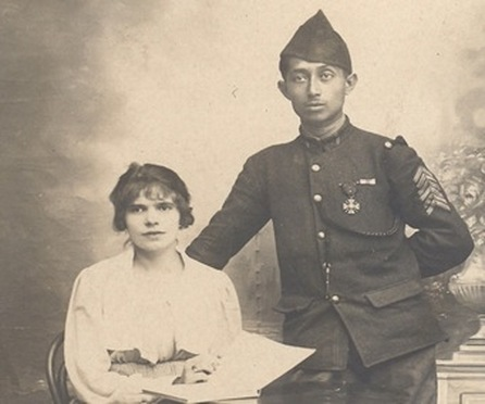 Indo soldier Arthur Knaap and his girlfriend