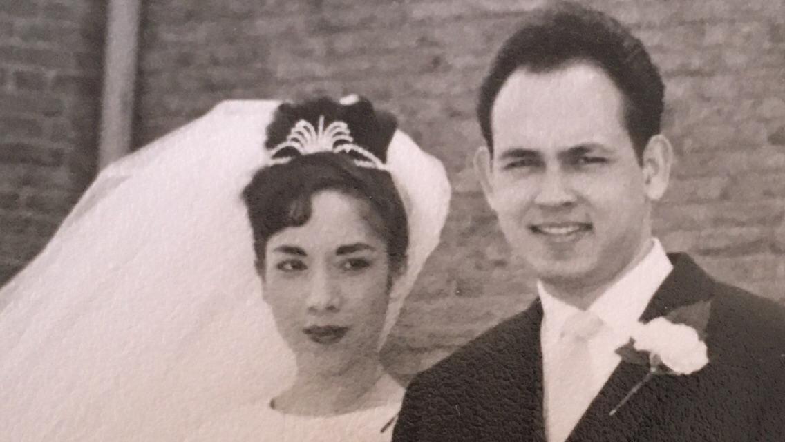 Indo Scientist Edward Frietman with bride Inca