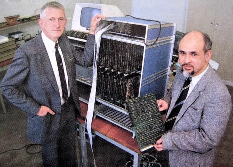 Indo Scientist Edward Frietman with Supercomputer
