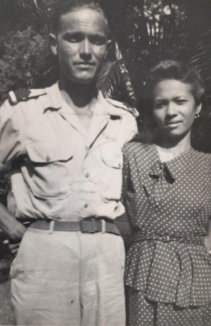 Indo Sylvie Waxman's parents. Jan de Hoop and Martha De Nijs, circa 1949 in Indonesia
