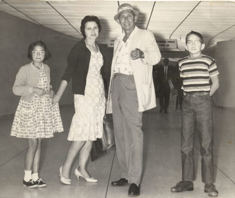 Indo Boon Family in 1963 at L.A.Airport -Vivian Robinson-Ducelle