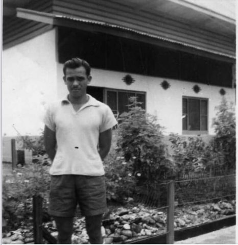 Undated photo of Indo Arie Morgan as a young man in Indonesia just prior to the war