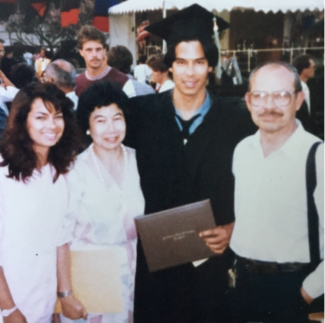 Indo Eric Morgan with family at Graduation
