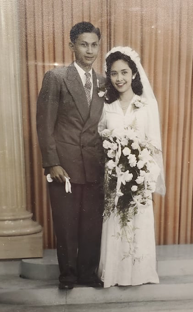 Indos Rudy and Lolly Waldt, married October 4, 1950 in Bandung