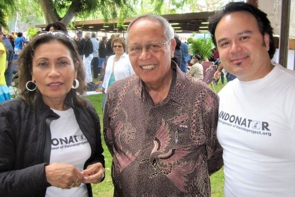 2011 - Indos Priscilla Kluge McMullen (TIP Chair), René Creutzburg, Jeff Keasberry (TIP Vice Chair) at the Holland Festival in Long Beach