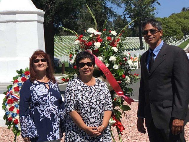 2019 Los Angeles Commemoration with The Indo Project Members Maureen de Schepper, Linda van Lommel Keeney, Eric Morgan