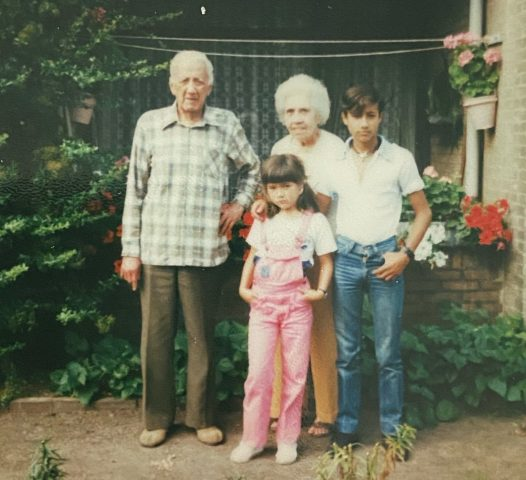 Indo Debby Felman with her Oma and Opa