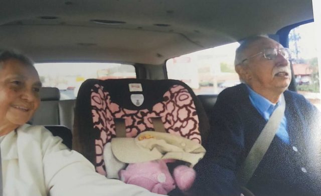 Indo Oma and Opa Teunisse on their way to visit grandchildren